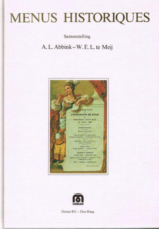 Menus Historiques - 9789090003627 - A.L. Abbink