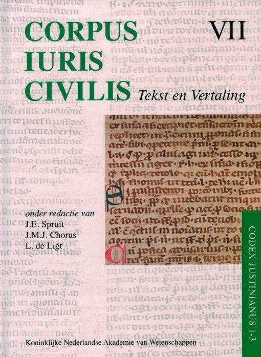 Corpus Iuris Civilis VII Tekst en Vertaling - 9789069844510 -