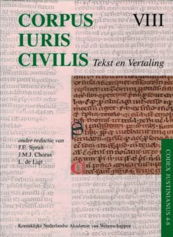 Corpus Iuris Civilis VIII Tekst en Vertaling - 9789069845142 -