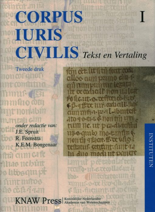Corpus Iuris Civilis I Tekst en Vertaling - 9789069845531 -