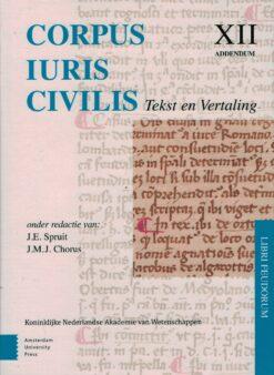 Corpus Iuris Civilis XII Tekst en Vertaling - 9789462983038 -